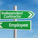 Contractor vs employee direction signs