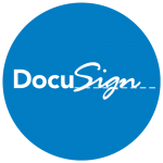 DocuSign round blue and white logo